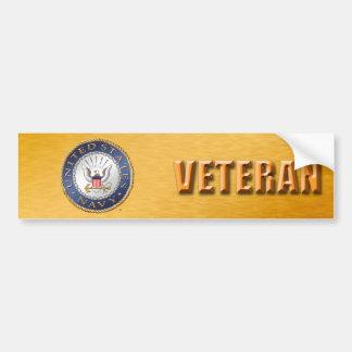 Autocollant De Voiture U.S. Adhésif pour pare-chocs de vétéran de marine