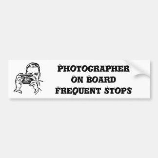 Autocollant De Voiture Un adhésif pour pare-chocs de photographe de