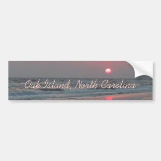 Autocollant De Voiture Un coucher du soleil parfait - île de chêne, OR