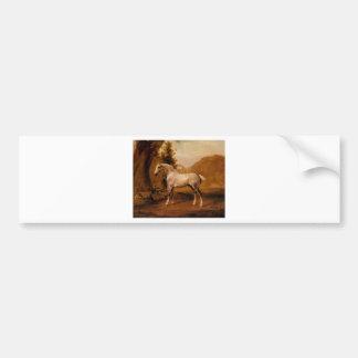 Autocollant De Voiture Un étalon gris dans un paysage par George Stubbs