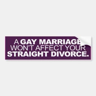 AUTOCOLLANT DE VOITURE UN MARIAGE HOMOSEXUEL N'AFFECTERA PAS VOTRE