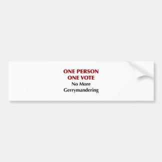 Autocollant De Voiture Un vote de la personne une, pas plus de charcutage