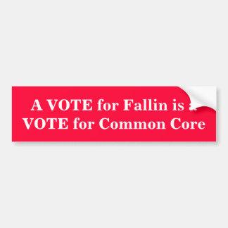 Autocollant De Voiture UN VOTE pour Fallin est un VOTE pour le tronc