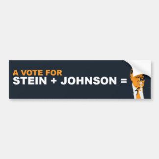 Autocollant De Voiture Un vote pour le stein ou le Johnson est un vote