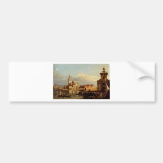 Autocollant De Voiture Une vue à Venise du Punta Della Dogana Towar