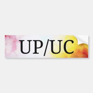 Autocollant De Voiture UP/UC sans aide