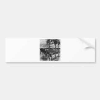 Autocollant De Voiture Vache potable par Max Liebermann