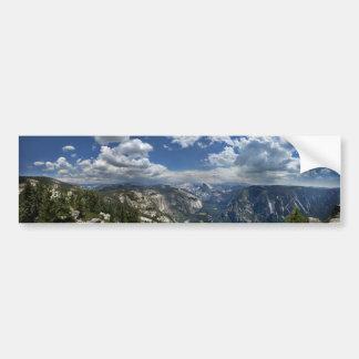 Autocollant De Voiture Vallée de Yosemite et demi de dôme de crête