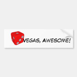 Autocollant De Voiture Vegas, impressionnant ! Adhésif pour pare-chocs de
