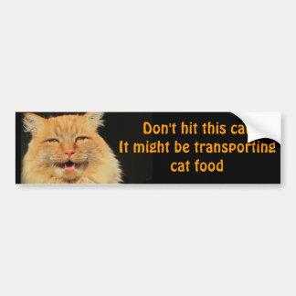 Autocollant De Voiture Véhicule de transport d'aliments pour chats