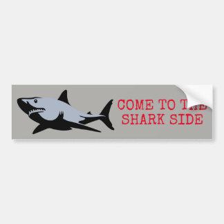 Autocollant De Voiture Venez au côté de requin