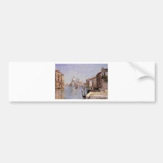 Autocollant De Voiture Venise - vue de della Carita de Campo regardant…