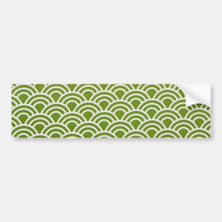 Autocollant De Voiture verde de fin de support d'abstrato de padrão