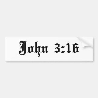 Autocollant De Voiture vers chrétien de bible de 3h16 de John