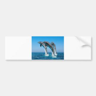 Autocollant De Voiture Vers le haut des dauphins hauts hauts