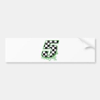 Autocollant De Voiture vert du numéro 5 d'emballage automatique
