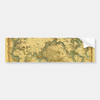 Autocollant De Voiture Vieille carte antique du monde