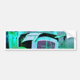 Autocollant De Voiture Vieux fourgon vert
