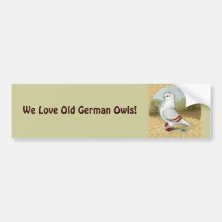 Autocollant De Voiture Vieux hibou allemand dans le rond