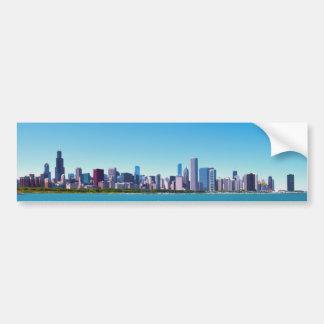 Autocollant De Voiture Ville panorama d'horizon de Chicago, l'Illinois