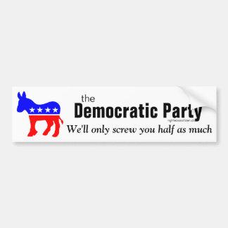 Autocollant De Voiture Vis de Parti démocrate vous