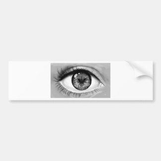 Autocollant De Voiture Vision de double d'oeil de crâne