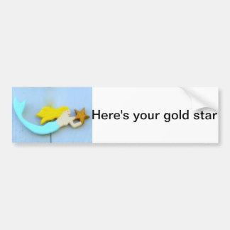 Autocollant De Voiture voici votre adhésif pour pare-chocs d'étoile d'or
