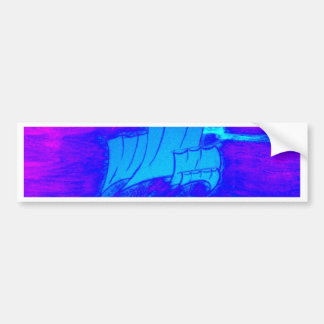 Autocollant De Voiture voilier fluorescent 1