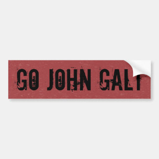 AUTOCOLLANT DE VOITURE VONT JOHN GALT
