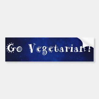 Autocollant De Voiture Vont l'adhésif pour pare-chocs végétarien