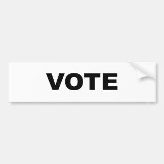 AUTOCOLLANT DE VOITURE VOTE