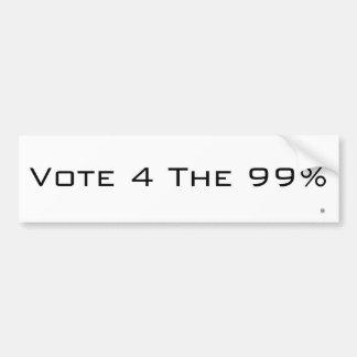 Autocollant De Voiture Vote 4 l'adhésif pour pare-chocs de 99%
