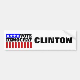 Autocollant De Voiture Vote Démocrate de Hillary Clinton pour le