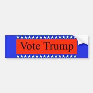 Autocollant De Voiture Vote Donald Trump 2016