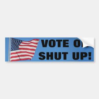 Autocollant De Voiture Vote ou fermé avec le drapeau des Etats-Unis
