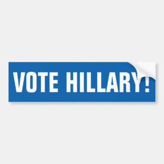 Autocollant De Voiture VOTE personnalisable HILLARY !