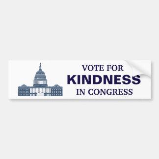 Autocollant De Voiture Vote pour la gentillesse dans le congrès