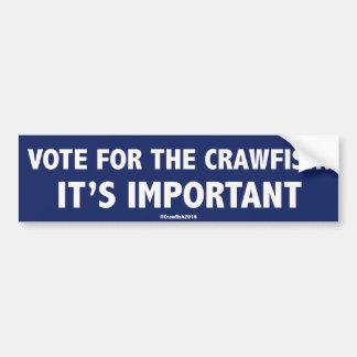 Autocollant De Voiture Vote pour les écrevisses : C'est important ! Stic