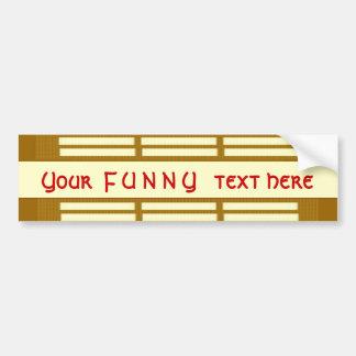 Autocollant De Voiture Votre citation de F U N N    Y - bandes