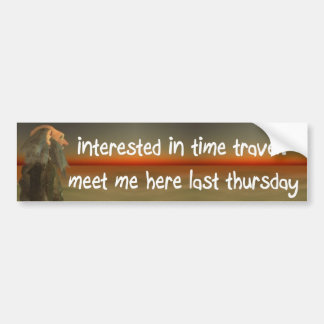 Autocollant De Voiture voyage de temps