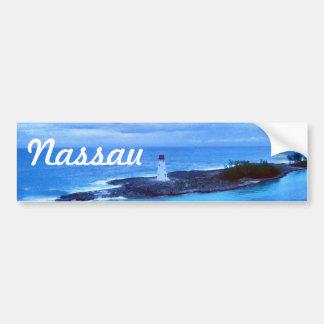 Autocollant De Voiture Voyage Nassau de lumière d'île de porc