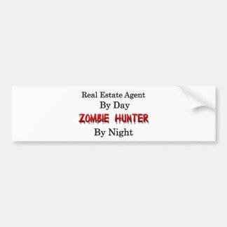 Autocollant De Voiture Vrai chasseur d'agent immobilier/zombi