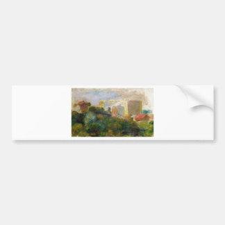 Autocollant De Voiture Vue du jardin de Renoir dans Montmartre