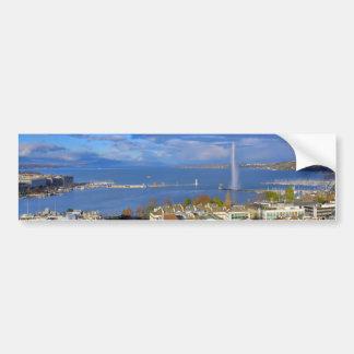 Autocollant De Voiture Vue panoramique du jet d'eau de Genève