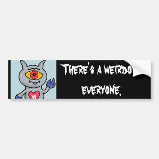 Autocollant De Voiture Weirdozoid - il y a un weirdo dans chacun