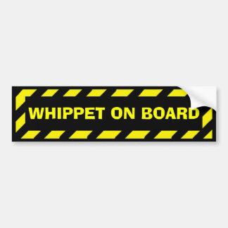 Autocollant De Voiture Whippet à bord d'autocollant jaune de précaution