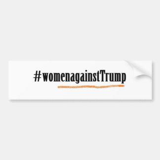 Autocollant De Voiture #womenagainstTrump d'adhésif pour pare-chocs