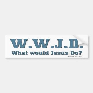 Autocollant De Voiture WWJD ? Que Jésus ferait-il ?