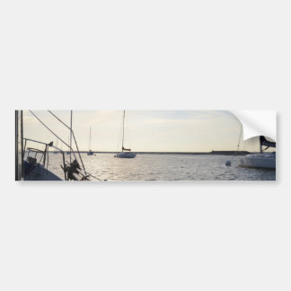 Autocollant De Voiture Yachts amarrés à l'aube