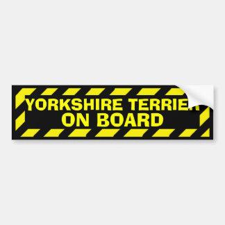 Autocollant De Voiture Yorkshire Terrier à bord d'autocollant jaune de